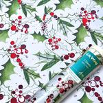 Jolly Holly Christmas Gift Wrap Sheets