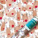 Happy Reindeer Christmas Gift Wrap Sheets