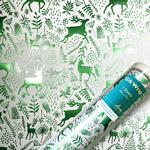 Green Reindeer Silhouette Wrapping Paper Sheets