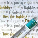 Bubbles With Love Gift Wrap Sheets