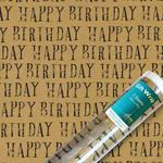Happy Birthday Craft Gift Wrap Sheets