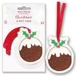 Waitrose Christmas Pudding Gift Tags
