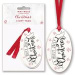Waitrose Holly Jolly Christmas Gift Tags