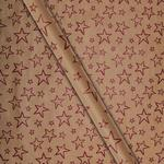Waitrose Kraft Stars Wrapping Paper