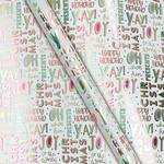 Waitrose Neon & White Christmas Wrapping Paper