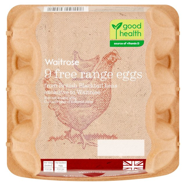 Waitrose Eggs Free Range British Blacktail
