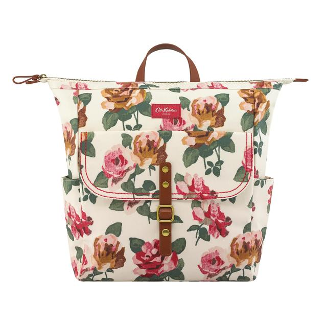 Cath Kidston Canvas Backpack, Chiswick Rose