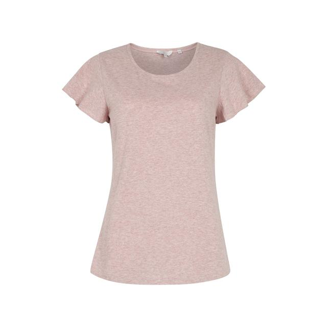 FatFace Frill Sleeve Top, Rose