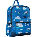 Frugi Recycled School Backpack with Polar Bear Penguin Print