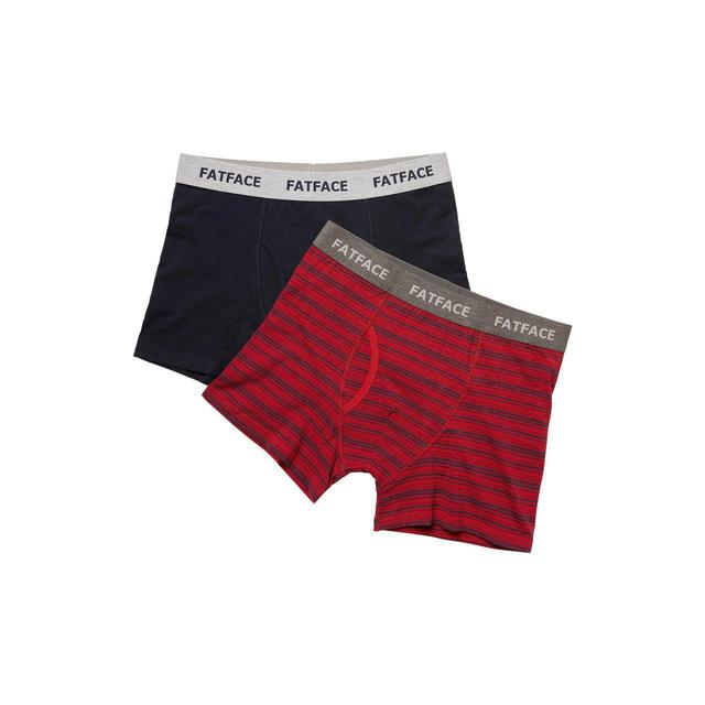 FatFace Mens Compton Stripe Boxers, Red