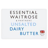 Essential Waitrose Unsalted Dairy Butter