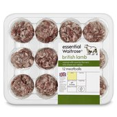 12 British Lamb Meatballs essential Waitrose