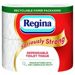 Regina Seriously Strong 4 Roll Bathroom Tissue