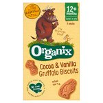 Organix Gruffalo Biscuits Cocoa & Vanilla Toddler Snacks Multipack