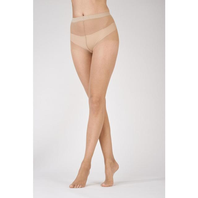 Pretty Polly Naturals 8 Denier Sandal Toe Tights, Nude