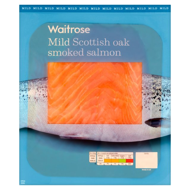 Waitrose Scottish Oak Smoked Salmon