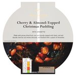 Waitrose Cherry & Almond Christmas Pudding with Ameretto in Ceramic Bowl