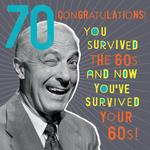 Nutty Neon 70th Birthday Card