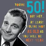 Nutty Neon 50th Birthday Card