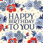 Emma Bridgewater Blue Flowers Birthday Card