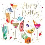 Pink Celebration Birthday Card