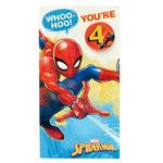 Disney Spider-Man 4th Birthday Card