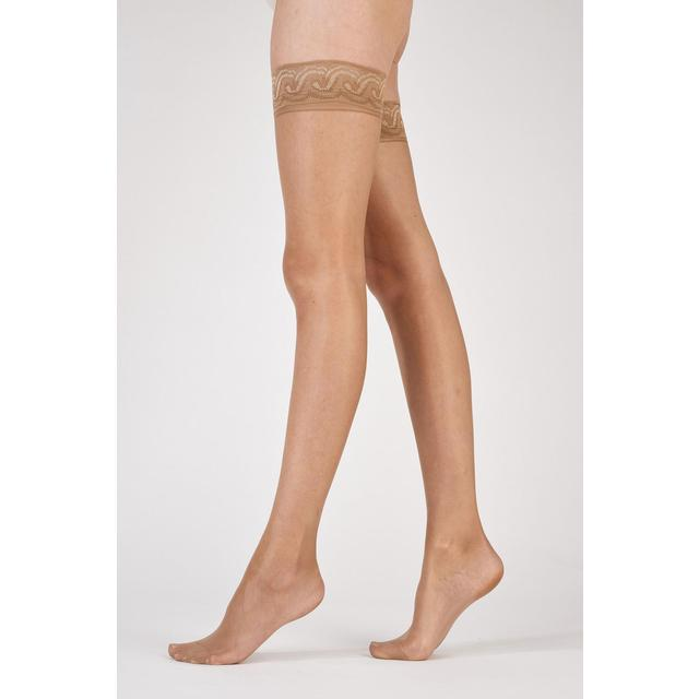 Pretty Polly 10 Denier Gloss Hold Up Tights, Nude