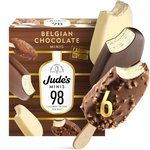 Jude's Mini Chocolate, Almond & White Lower Calorie Ice Cream