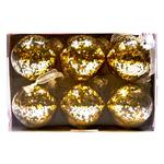 Waitrose Gold Glitter Bauble Set