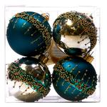 Waitrose Teal & Silver Bauble Set