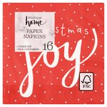 Waitrose Red Christmas Joy Napkins