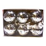Waitrose Silver Glitter Bauble Set
