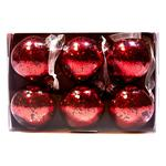 Waitrose Red Glitter Bauble Set