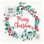 Waitrose Berry Wreath Christmas Napkin