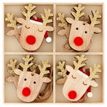 Waitrose Wooden Reindeer Tree Decoration