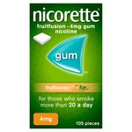 Nicorette Fruitfusion 4mg Gum