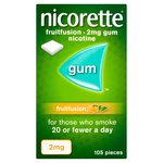 Nicorette Gum Fruitfusion 2mg