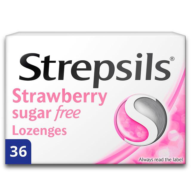 Strepsils Sugar Free Strawberry Lozenges