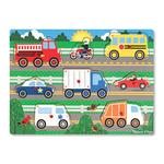 Melissa & Doug Wooden Peg Puzzle - Vehicles, 3yrs+