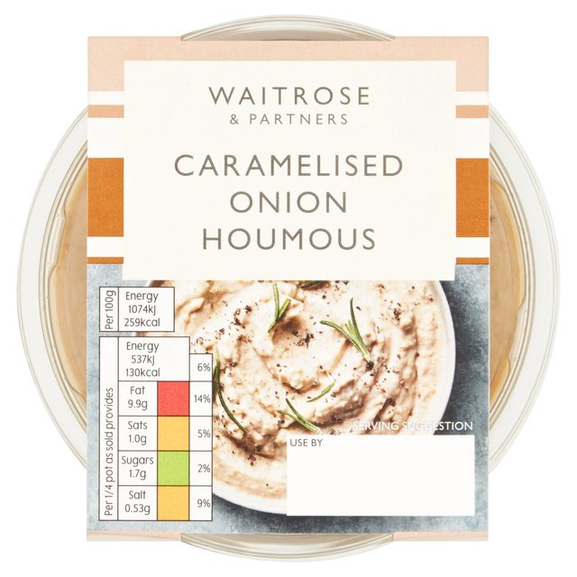 Waitrose Caramelised Onion Houmous