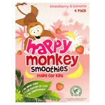 Happy Monkey Strawberry & Banana Kids Smoothie