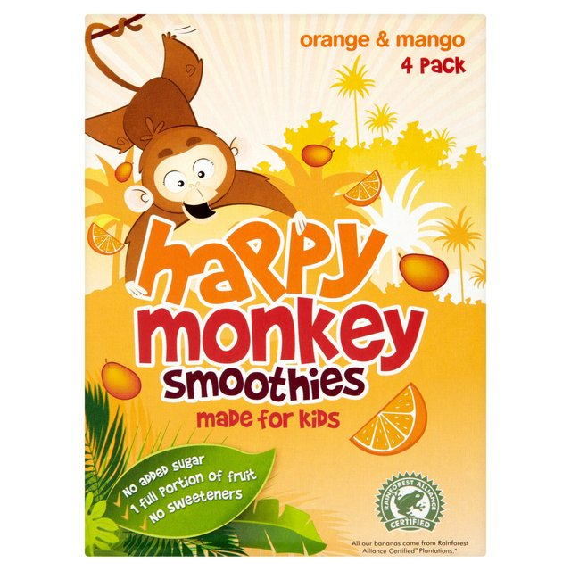 Happy Monkey Orange & Mango Kids Smoothie