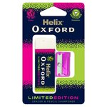 Helix Oxford Clash Eraser and Pencil Sharpener Pink