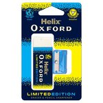 Helix Oxford Clash Eraser and Pencil Sharpener Blue