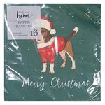 Waitrose Beagle Napkin Dark Green