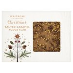 Waitrose Christmas Salted Caramel Fudge Slab