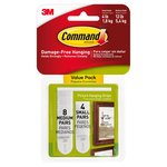 Command Picture Hanging Strips  Small (8 med sets & 4 small sets/pk)