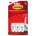 Command Wire Hooks Small (3 hooks, 4 strips/pk)
