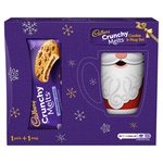Cadbury Crunchy Melts Biscuits with Christmas Mug (design may vary)