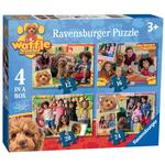 Waffle the Wonder Dog 4 in a Box (12, 16, 20, 24pc) Jigsaw Puzzles